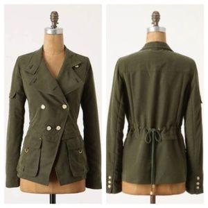 Anthropologie slackened utility jacket army coat